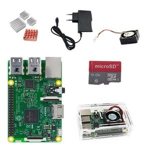 CARTE MÈRE Raspberry Pi 3 Model B, 1GB RAM, WLAN, BT+Carte mi