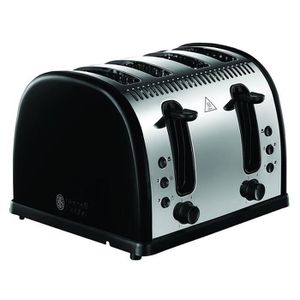 GRILLE-PAIN - TOASTER Russell Hobbs 21303 Grille-Pain Noir À 4 Tranches