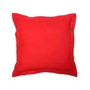 COUSSIN Coussin déco 60x60 cm en coton PANAMA rouge, par s