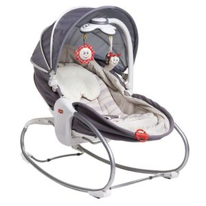 TRANSAT TINY LOVE Transat Rocker Napper Cozy - gris