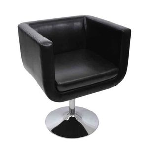 FAUTEUIL Fauteuil de Bar Noir 63 x 56 cm en PU et Pieds en