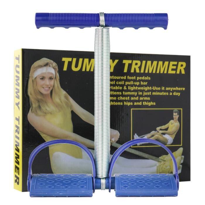 Rameur élastique Appareil multifonction avec poignées à ressort élastique pour abdominaux jambes Fitness Yoga