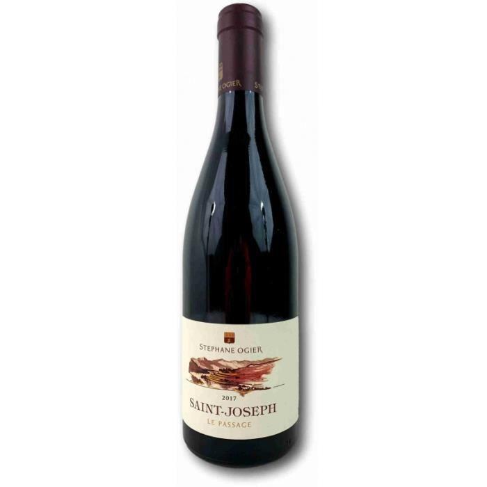 Vin rouge, St Joseph, Domaine M et S Ogier, le passage 2017 Rouge