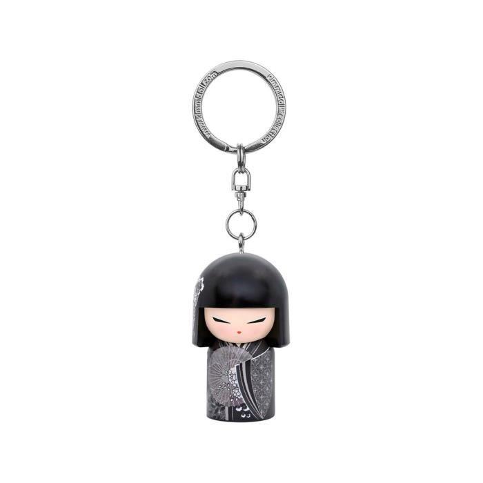 Porte clé Kokeshi Kimmidoll 5cm Mieko - Prosperous VERSION ANGLAISE