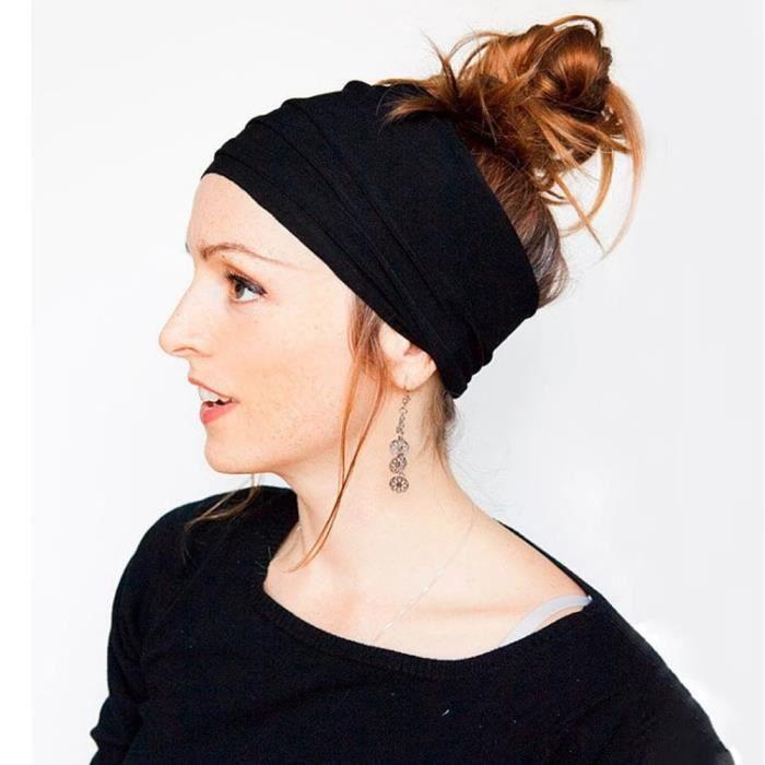 Bandeau de Yoga élastique à plis antidérapants, large, à la mode, sport, accessoires de course, extensible