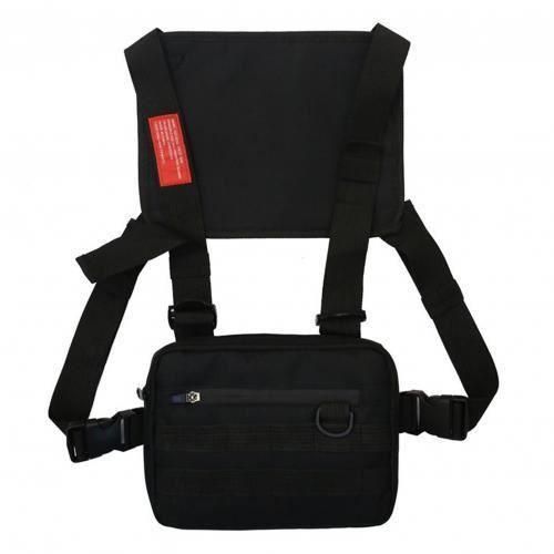 Sac de poitrine Hip Hop réglable pour hommes et femmes, pochette épaule, sac de plate forme de poitrine Oxford LA15473790