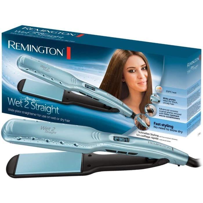 Fers à lisser Remington S7350 Fer à lisser, Lisseur Professionel Wet2Straight, Plaques Flottantes Céramique Avancée, Soi 190808