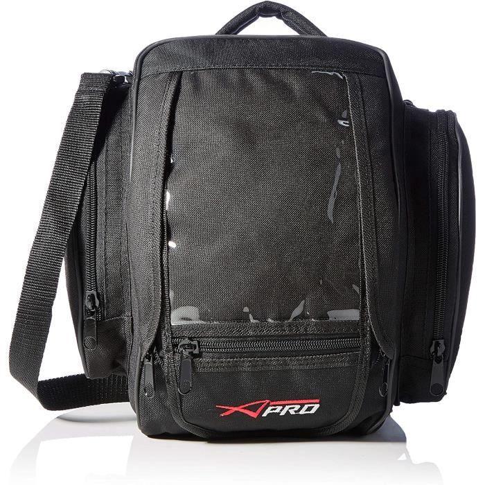 A-Pro Réservoir Sac à Dos Moto Textile 5lt GEPA d'angle magnétique Noir A11