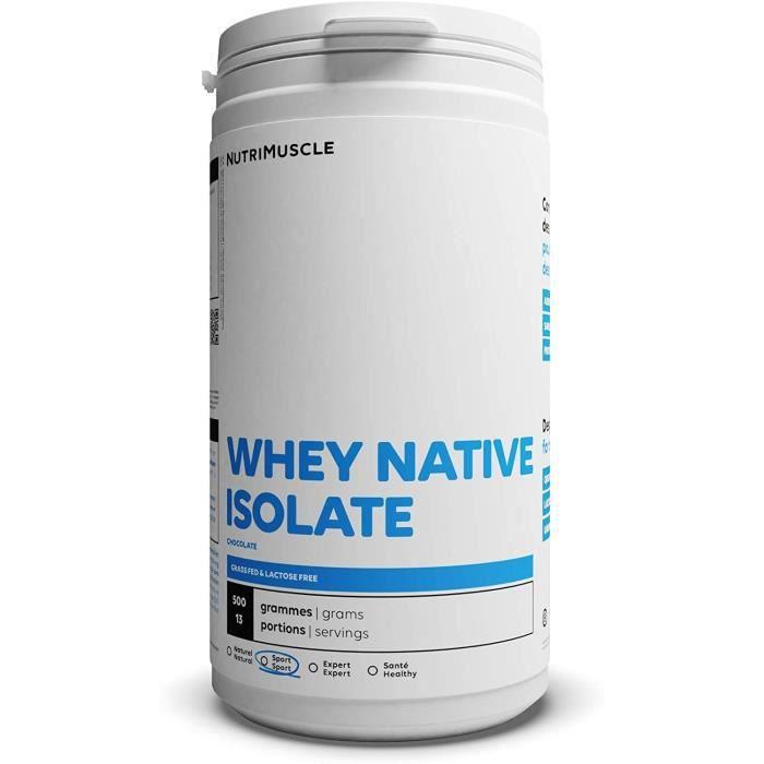 Isolat De Whey Native 100 Pur Whey Proteacuteine en Poudre e traproteacuteineacutee 90 bull Prise de muscle bull Musculation[283]