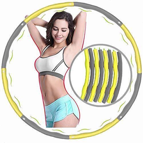 Hula Hoop,Hula Hoop Fitness Adulte,Cerceau de Fitness Amovible avec Mousse,Démontable Portable Fitness,8 Sections Détachables