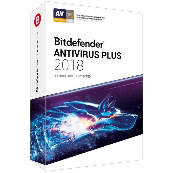 Bitdefender Antivirus Plus 2018 1 an 1 Pc