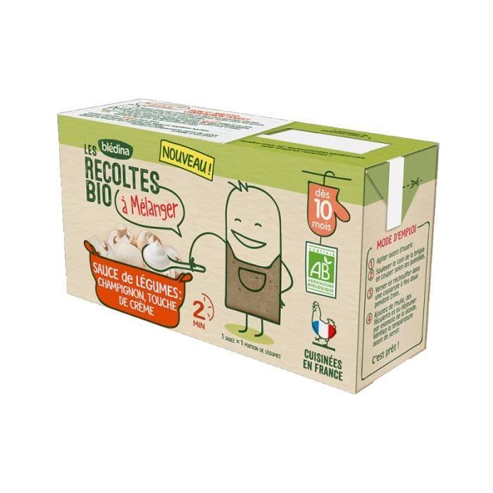 BLEDINA Les récoltes Bio à mélanger - Sauce Champignon, touche de crème