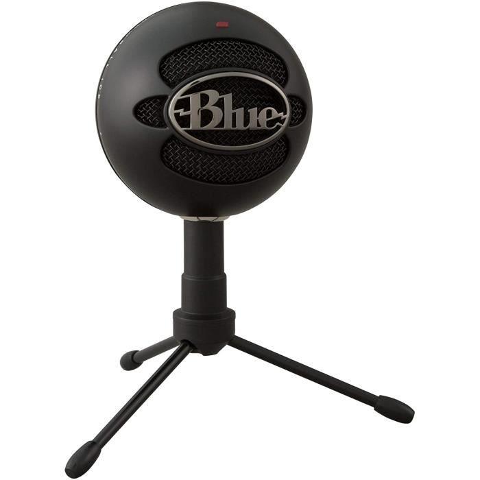 Blue Microphones Snowball ICE Plug 'n Play Microphone USB pour Enregistrement, Podcast, Diffuser, Jouer à Twitch en Streaming, Voix