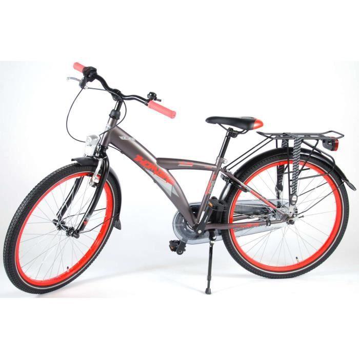 Vélo Enfants Garçon 24 Pouces Thombike City Frein Avant sur Le Guidon et Le Frein Arrière à Rétropédalage Shimano Nexus 3 Vitesses
