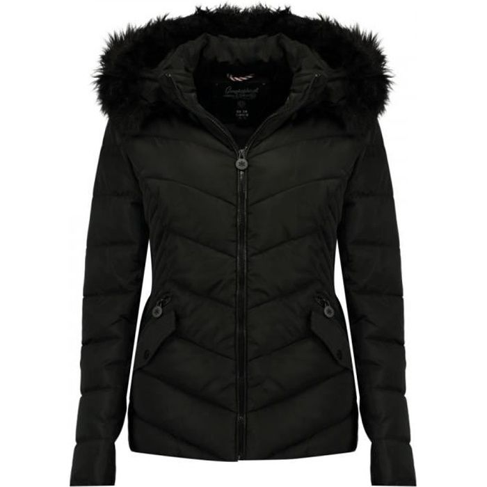 Doudoune Noire Fille Geographical Norway Chips