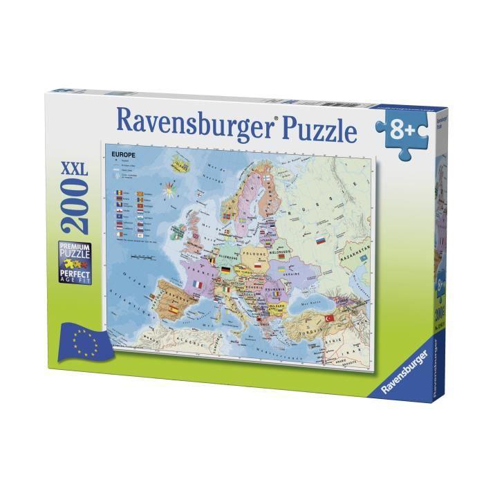 Puzzle 200 p XXL - Carte d'Europe