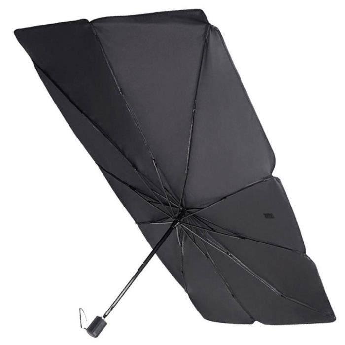 Pare-brise Pare-soleil pliable voiture Parasol UV véhicule résistant à la chaleur parapluie noir L Auvent