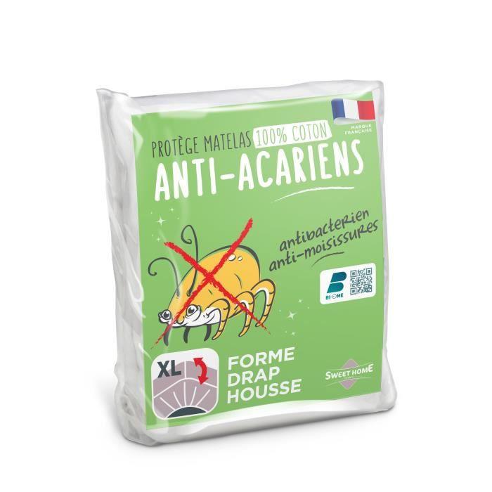 SWEETHOME Protège-matelas 100% coton - Anti-acariens - 180x200 cm