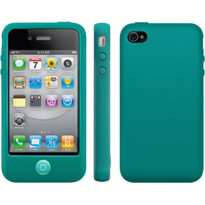 coque silicone iphone 4 4s bleu turquoise achat coque. Black Bedroom Furniture Sets. Home Design Ideas