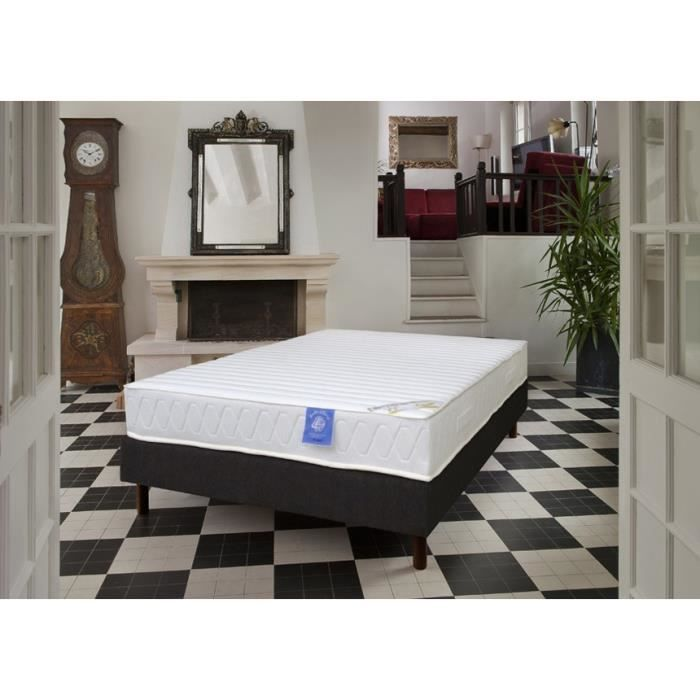 sommier et matelas latex 17 cm 140x190 benoist paula achat vente ensemble literie cdiscount. Black Bedroom Furniture Sets. Home Design Ideas