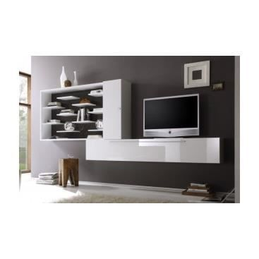 meuble tv hifi design banc de salon cuisine int rieur pas cher tv mural valfredo achat vente. Black Bedroom Furniture Sets. Home Design Ideas