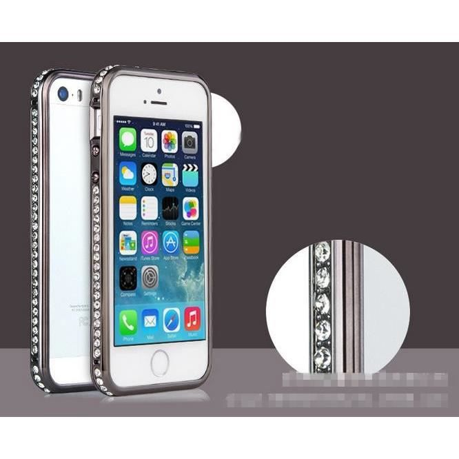 bumper coque etui strass diamant iphone 5 5s noir achat. Black Bedroom Furniture Sets. Home Design Ideas