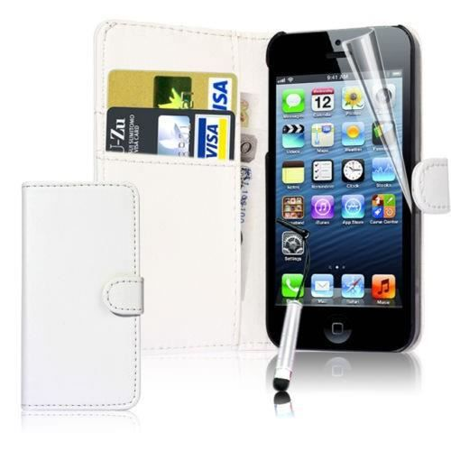 Coque portefeuille iphone 4 4s int rieur couleur blanc for Interieur iphone
