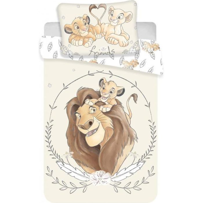 """PARURE DE LIT BÉBÉ Parure Housse de Couette + Taie """"Le roi Lion"""" - 10"""