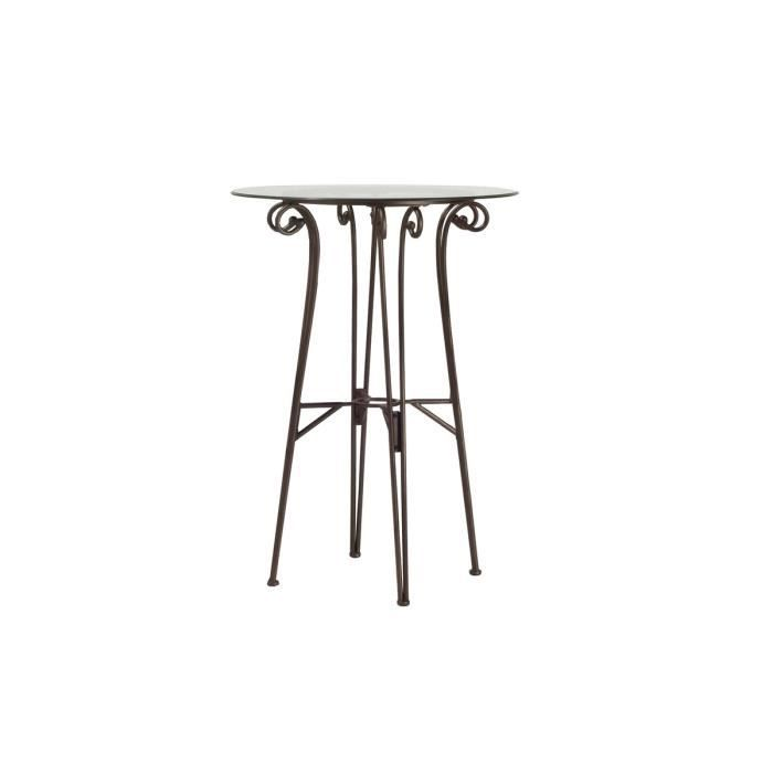 Table de bar bronze en verre malo achat vente mange debout table de bar e - Table de bar en verre ...