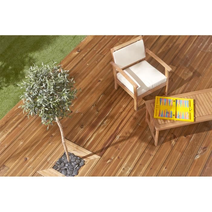 lame terrasse bois achat vente lame terrasse bois pas cher cdiscount. Black Bedroom Furniture Sets. Home Design Ideas