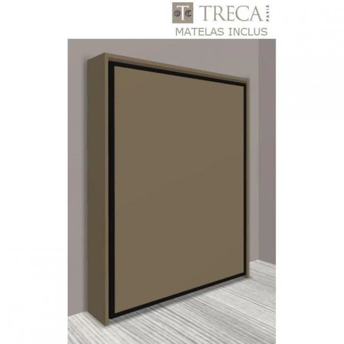 armoire lit escamotable cronos taupe mat mate achat. Black Bedroom Furniture Sets. Home Design Ideas
