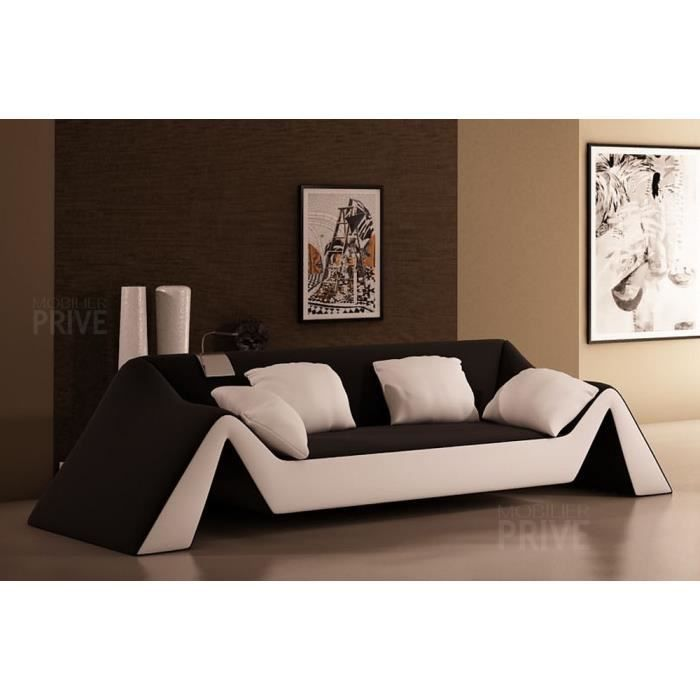 canap 3 places en cuir italien stefano et achat. Black Bedroom Furniture Sets. Home Design Ideas