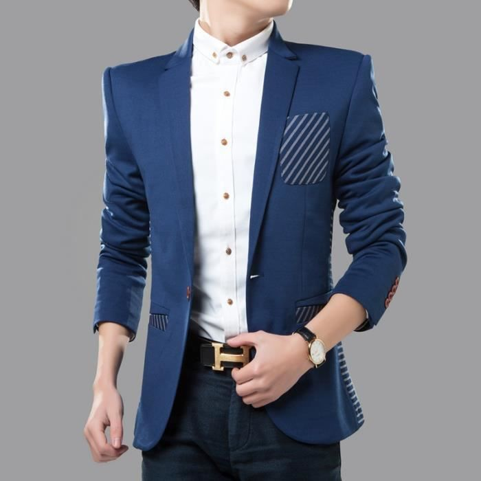 veste homme blazer veste costume homme slim noir achat vente veste cdiscount. Black Bedroom Furniture Sets. Home Design Ideas