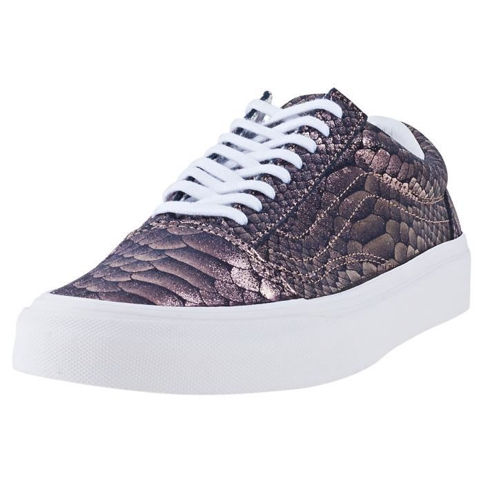Uk Old 6 Vans Baskets Foncé Skool Femmes Gris Snake Metallic vNn8yOwm0
