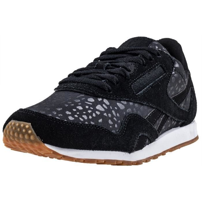 Reebok Classic Nylon Slim Lux Femmes Baskets Noir 6 UK