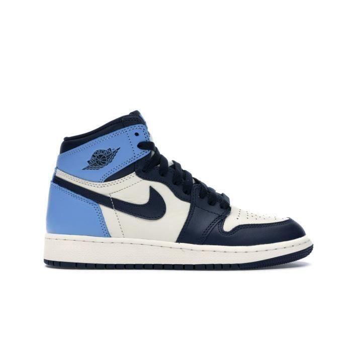 air jordan 1 bleu et noir