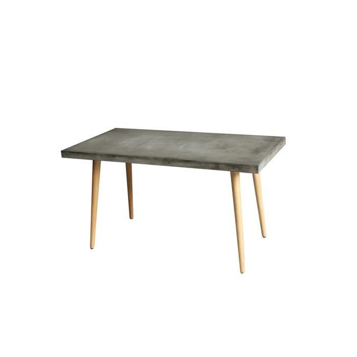 Table De Repas Rectangulaire Beton Cire Cementi L 140 X L 70 X