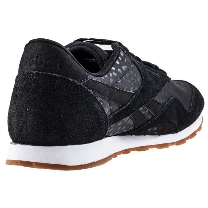 Reebok Classic Nylon Slim Lux Femmes Baskets Noir - 6 UK