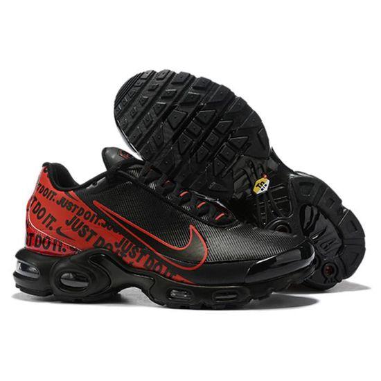 Nike Air Max Plus TN SE Noir Rouge Chaussures De Course. Noir ...