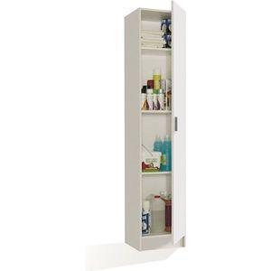 ARMOIRE DE CHAMBRE MULTIUSOS armoire rangement 1 porte blanc