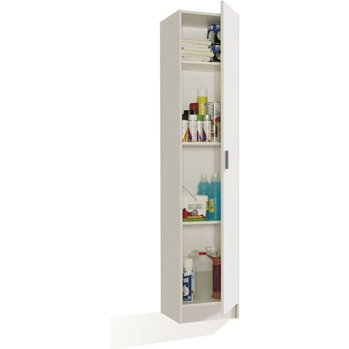 multiusos armoire rangement 1 porte blanc achat vente armoire de chambre multiusos armoire. Black Bedroom Furniture Sets. Home Design Ideas