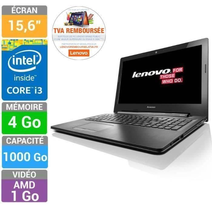 destockage lenovo pc portable ideapad g50 70 core i3 15 6. Black Bedroom Furniture Sets. Home Design Ideas