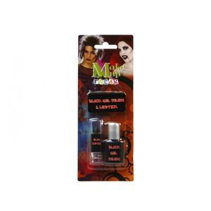 Maquillage black nail polish et lipstick Adultes