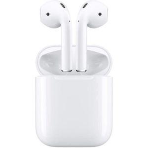 CASQUE - ÉCOUTEURS Apple AirPods 2 (2 ème génération) + 1 Etuit silic