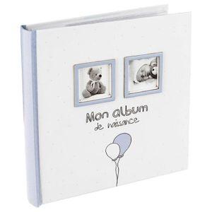 COFFRET CADEAU SOUVENIR Album de naissance 120 photos garçon
