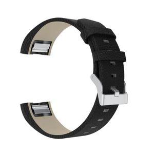 BRACELET DE MONTRE Bracelet cuir de luxe pour Fitbit charge 2-005