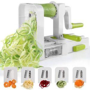 MANDOLINE DE CUISINE 5 lames Coupe-légumes spirale de légumes, pliable