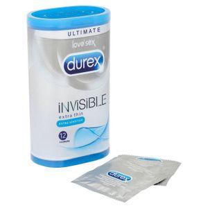 PRÉSERVATIF Durex Invisible extra sensible Paquet de 12 préser