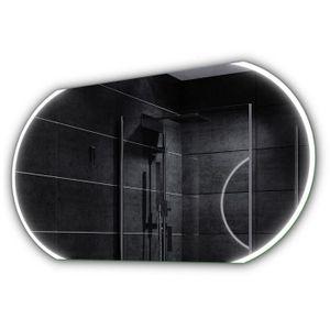 Miroir de salle de bain LED avec horloge, radio, MP3 ...
