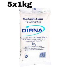 BICARBONATE DE SOUDE 5 x Sac Bicarbonate de soude 1kg DIRNA alimentaire